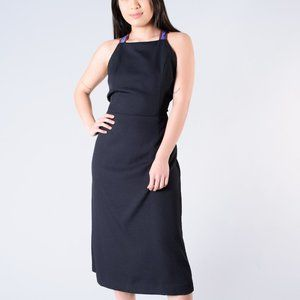 Rachel Comey Navy Dress w/ Blue and Red Straps